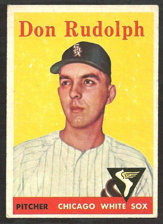 CHICAGO WHITE SOX DON RUDOLPH 1958 TOPPS # 347 EX