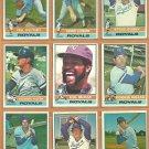 1976 Topps Kansas City Royals Team Lot 14 McRae Patek Rojas Busby Leonard +