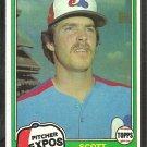 1981 Topps Baseball Card # 235 Montreal Expos Scott Sanderson nr mt