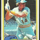 1981 Topps Baseball Card # 228 Seattle Mariners Tom Paciorek nr mt