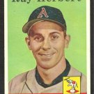 KANSAS CITY ATHLETICS RAY HERBERT 1958 TOPPS # 379