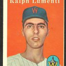 WASHINGTON SENATORS RALPH LUMENTI 1958 TOPPS # 369 EX