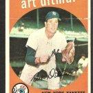 NEW YORK YANKEES ART DITMAR 1959 TOPPS # 374
