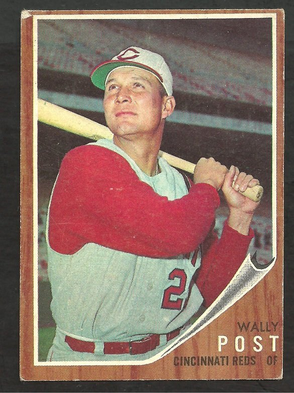 CINCINNATI REDS WALLY POST 1962 TOPPS # 148