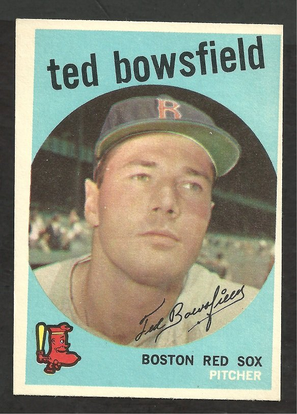 BOSTON RED SOX TED BOWSFIELD 1959 TOPPS # 236 EX MT OC