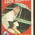 NEW YORK YANKEES ZACK MONROE 1959 TOPPS # 108 VG