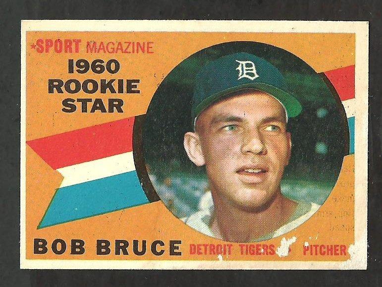 DETROIT TIGERS BOB BRUCE 1960 TOPPS ROOKIE STAR # 118 F/G