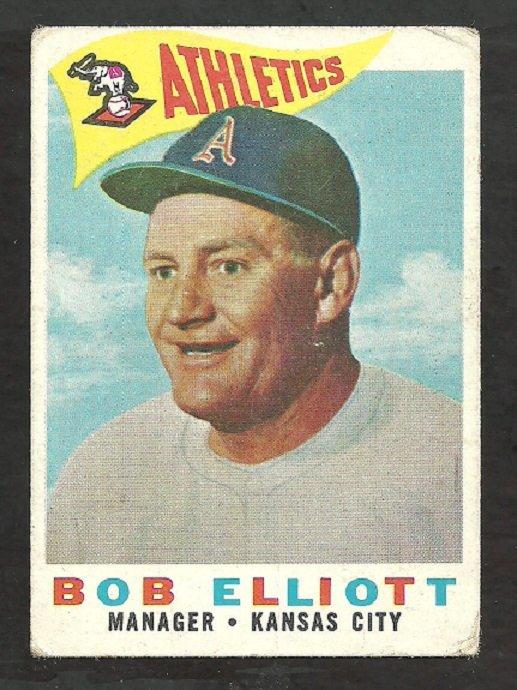 KANSAS CITY ATHLETICS BOB ELLIOT 1960 TOPPS # 215 G