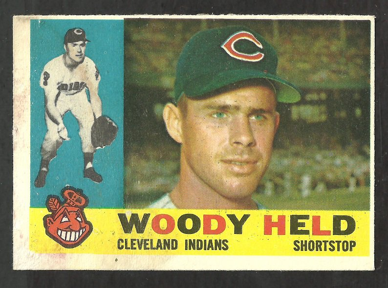 CLEVELAND INDIANS WOODY HELD 1960 TOPPS # 178