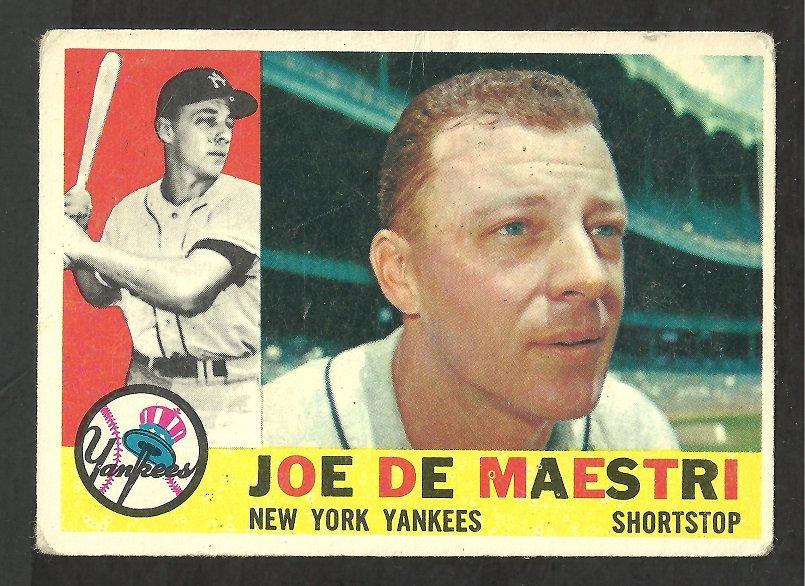 NEW YORK YANKEES JOE DE MAESTRI 1960 TOPPS # 358 G/VG