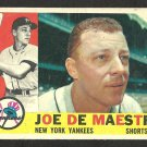 NEW YORK YANKEES JOE DE MAESTRI 1960 TOPPS # 358 G/VG