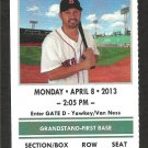 Boston Red Sox Baltimore Orioles 2013 Opening Day Ticket Daniel Nava Adam Jones HR Clay Bucholtz