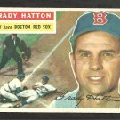 1956 Topps Baseball Card # 26 Boston Red Sox Grady Hatton White Back Variation