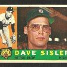 DETROIT TIGERS DAVE SISLER 1960 TOPPS # 186