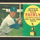 LOS ANGELES DODGERS RON FAIRLY ROOKIE STAR 1960 TOPPS # 321 G