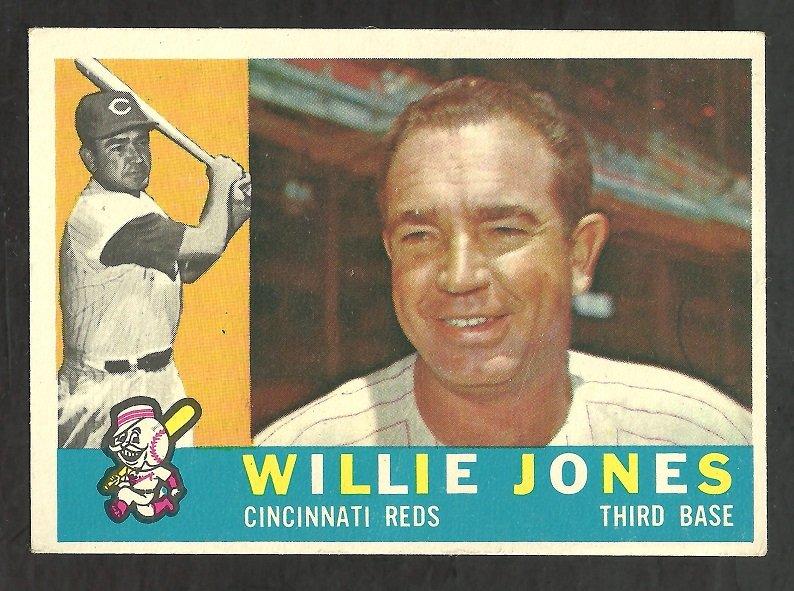 CINCINNATI REDS WILLIE JONES 1960 TOPPS # 289 EX