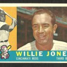 CINCINNATI REDS WILLIE JONES 1960 TOPPS # 289 EX