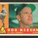 ST LOUIS CARDINALS BOB KEEGAN 1960 TOPPS # 291 EX