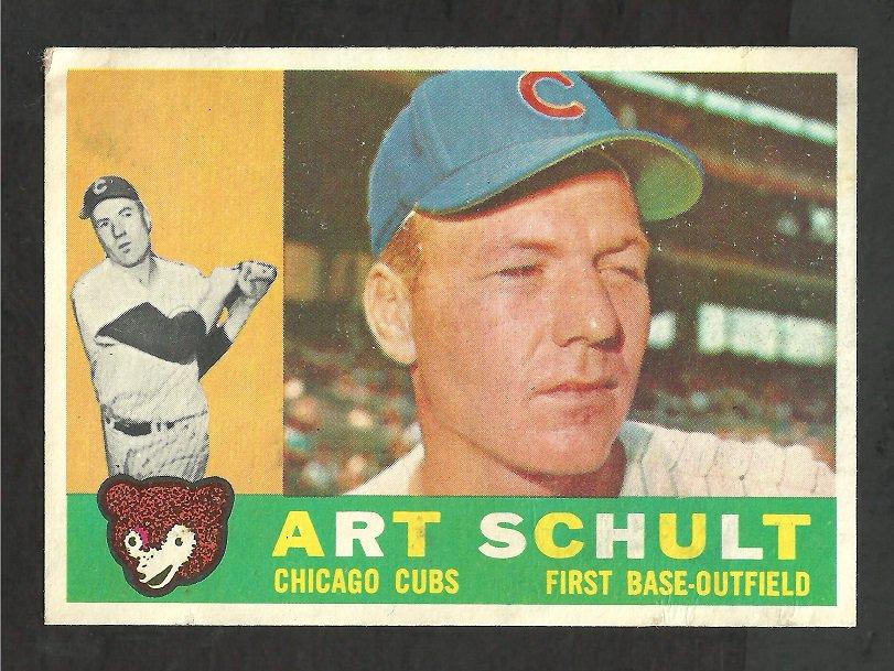 CHICAGO CUBS ART SCHULT 1960 TOPPS # 93 EX