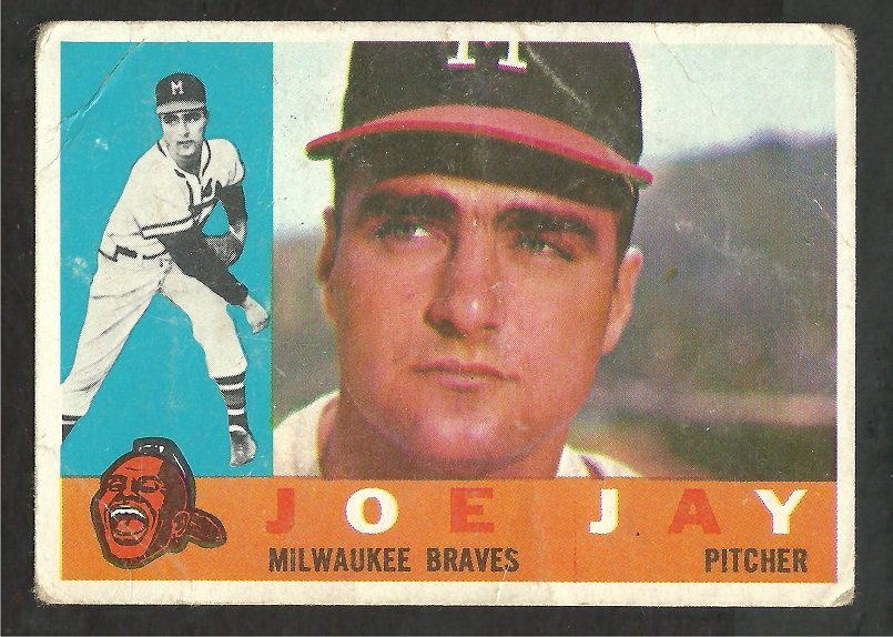 MILWAUKEE BRAVES JOEY JAY 1960 TOPPS # 266 G