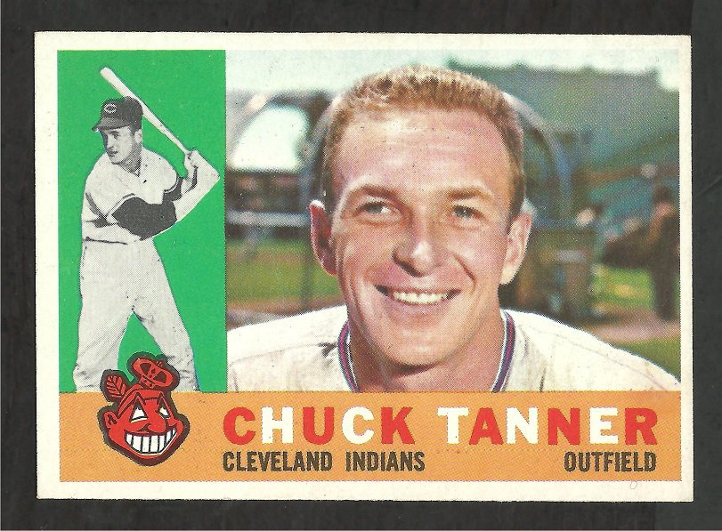 CLEVELAND INDIANS CHUCK TANNER 1960 TOPPS # 279 NR MT