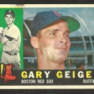 BOSTON RED SOX GARY GEIGER 1960 TOPPS # 184 F/G