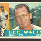 CINCINNATI REDS LEE WALLS 1960 TOPPS # 506 G