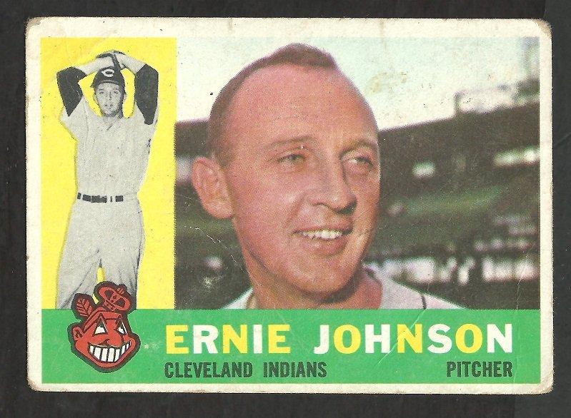 CLEVELAND INDIANS ERNIE JOHNSON 1960 TOPPS # 228 G