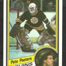 BOSTON BRUINS PETE PEETERS 1984 TOPPS # 12