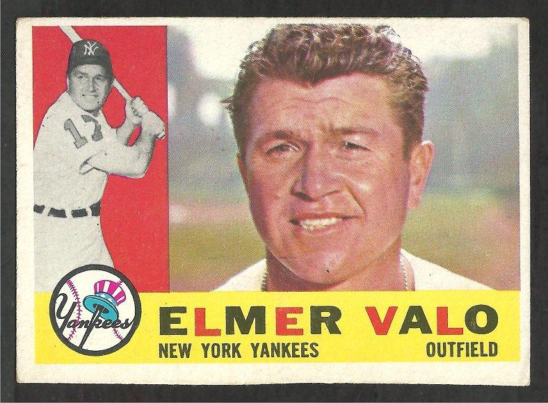 NEW YORK YANKEES ELMER VALO 1960 TOPPS # 237 EX
