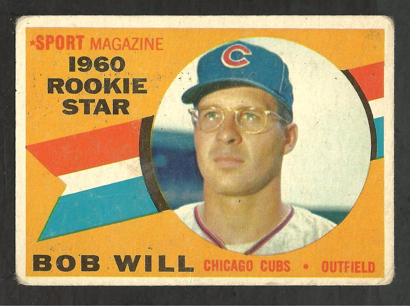 CHICAGO CUBS BOB WILL 1960 TOPPS ROOKIE STAR # 147 G