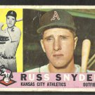 KANSAS CITY ATHLETICS RUSS SNYDER 1960 TOPPS # 81 G