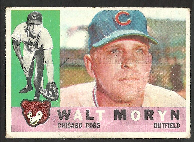 CHICAGO CUBS WALT MORYN 1960 TOPPS # 74 G/VG