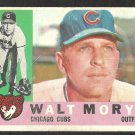 CHICAGO CUBS WALT MORYN 1960 TOPPS # 74 G/VG
