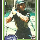 1981 Topps Baseball Card # 242 Chicago White Sox Chet Lemon nr mt