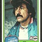 1981 Topps Baseball Card # 245 Texas Rangers Ed Figueroa nr mt
