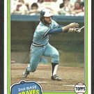 1981 Topps Baseball Card # 247 Atlanta Braves Glenn Hubbard nr mt