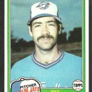 1981 Topps Baseball Card # 248 Toronto Blue Jays Joey McLaughlin nr mt