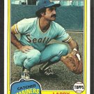 1981 Topps Baseball Card # 249 Seattle Mariners Larry Cox nr mt