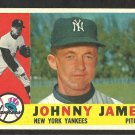NEW YORK YANKEES JOHNNY JAMES 1960 TOPPS # 499 EX