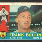 DETROIT TIGERS FRANK BOLLING 1960 TOPPS # 482
