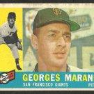 SAN FRANCISCO GIANTS GEORGES MARANDA 1960 TOPPS # 479 G/VG