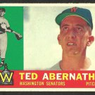 WASHINGTON SENATORS TED ABERNATHY 1960 TOPPS # 334 NR MT