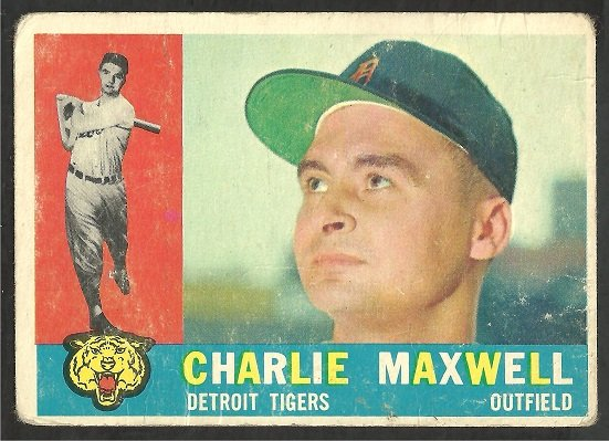 DETROIT TIGERS CHARLIE MAXWELL 1960 TOPPS # 443 F/G