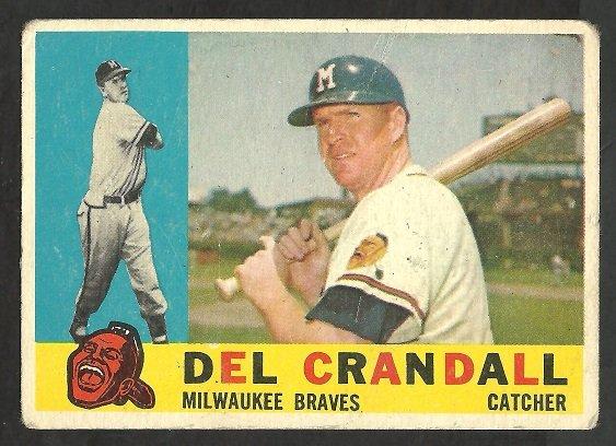 MILWAUKEE BRAVES DEL CRANDALL 1960 TOPPS # 170 G