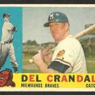 MILWAUKEE BRAVES DEL CRANDALL 1960 TOPPS # 170 G