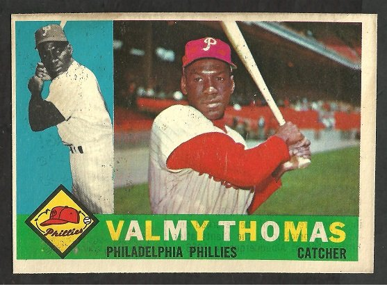 PHILADELPHIA PHILLIES VALMY THOMAS 1960 TOPPS # 167