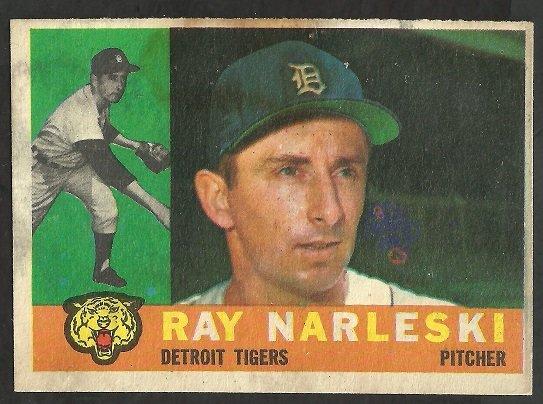 DETROIT TIGERS RAY NARLESKI 1960 TOPPS # 161