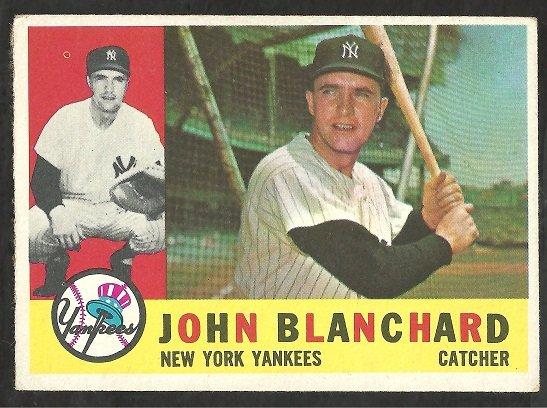 NEW YORK YANKEES JOHN BLANCHARD 1960 TOPPS # 283 EX