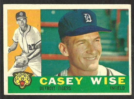 DETROIT TIGERS CASEY WISE 1960 TOPPS # 342 EX